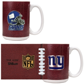 New York Giants 2pc GameBall Coffee Mug Set