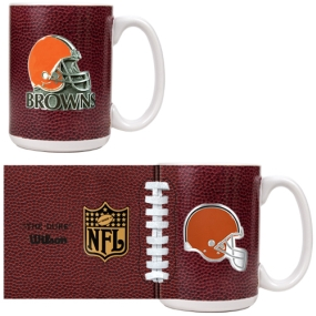 Cleveland Browns 2pc GameBall Coffee Mug Set