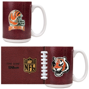 Cincinnati Bengals 2pc GameBall Coffee Mug Set