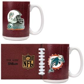 Miami Dolphins 2pc GameBall Coffee Mug Set