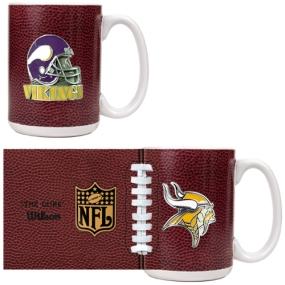 Minnesota Vikings 2pc GameBall Coffee Mug Set