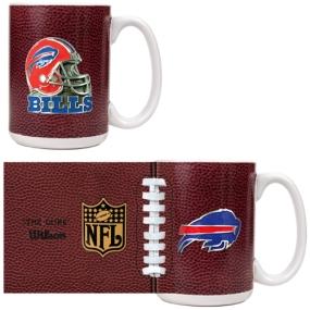 Buffalo Bills 2pc GameBall Coffee Mug Set