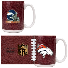 Denver Broncos 2pc GameBall Coffee Mug Set