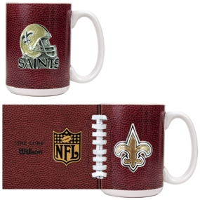 New Orleans Saints 2pc GameBall Coffee Mug Set