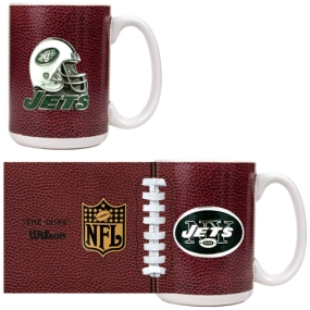 New York Jets 2pc GameBall Coffee Mug Set