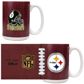 Pittsburgh Steelers 2pc GameBall Coffee Mug Set