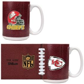 Kansas City Chiefs 2pc GameBall Coffee Mug Set