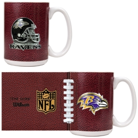 Baltimore Ravens 2pc GameBall Coffee Mug Set