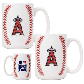 Anaheim Angels 2pc Ceramic Gameball Mug Set