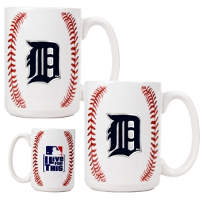 Detroit Tigers 2pc Ceramic Gameball Mug Set