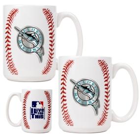 Florida Marlins 2pc Ceramic Gameball Mug Set