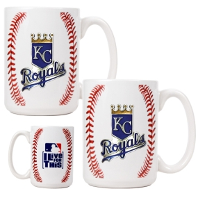 Kansas City Royals 2pc Ceramic Gameball Mug Set