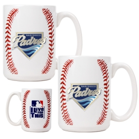 San Diego Padres 2pc Ceramic Gameball Mug Set