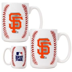 San Francisco Giants 2pc Ceramic Gameball Mug Set
