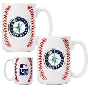 Seattle Mariners 2pc Ceramic Gameball Mug Set