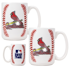 Saint Louis Cardinals 2pc Ceramic Gameball Mug Set