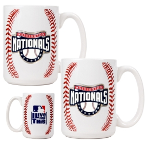 Washington Nationals 2pc Ceramic Gameball Mug Set