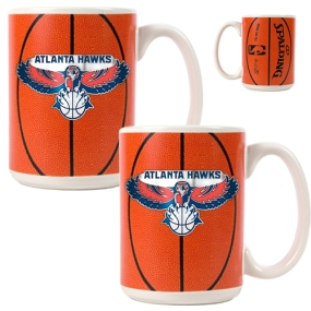 Atlanta Hawks 2pc Ceramic Gameball Mug Set