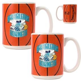 New Orleans Hornets 2pc Ceramic Gameball Mug Set