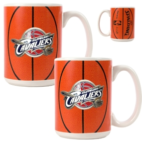 Cleveland Cavaliers 2pc Ceramic Gameball Mug Set