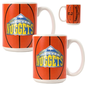 Denver Nuggets 2pc Ceramic Gameball Mug Set