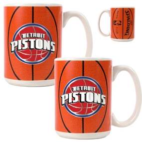 Detroit Pistons 2pc Ceramic Gameball Mug Set