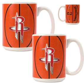 Houston Rockets 2pc Ceramic Gameball Mug Set