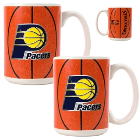 Indiana Pacers 2pc Ceramic Gameball Mug Set