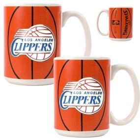 Los Angeles Clippers 2pc Ceramic Gameball Mug Set