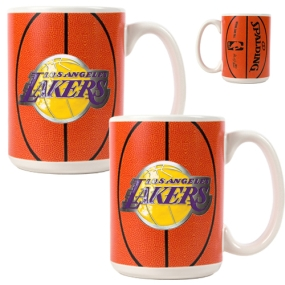 Los Angeles Lakers 2pc Ceramic Gameball Mug Set