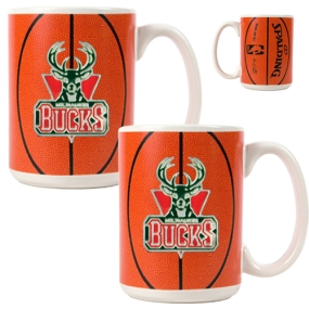 Milwaukee Bucks 2pc Ceramic Gameball Mug Set