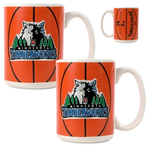 Minnesota Timberwolves 2pc Ceramic Gameball Mug Set