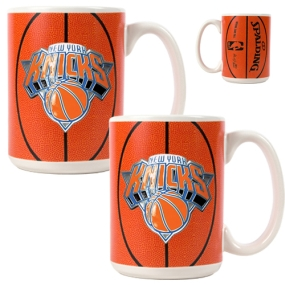 New York Knicks 2pc Ceramic Gameball Mug Set