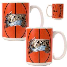 Philadelphia 76ers 2pc Ceramic Gameball Mug Set