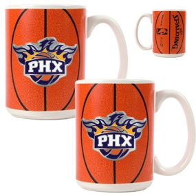 Phoenix Suns 2pc Ceramic Gameball Mug Set