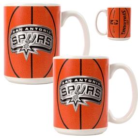 San Antonio Spurs 2pc Ceramic Gameball Mug Set