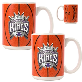 Sacramento Kings 2pc Ceramic Gameball Mug Set