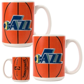 Utah Jazz 2pc Ceramic Gameball Mug Set