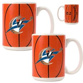 Washington Wizards 2pc Ceramic Gameball Mug Set