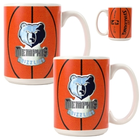 Memphis Grizzlies 2pc Ceramic Gameball Mug Set