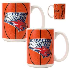 Charlotte Bobcats 2pc Ceramic Gameball Mug Set