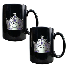 Los Angeles Kings 2pc Black Ceramic Mug Set