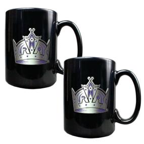 Los Angeles Kings 2pc Black Ceramic Mug Set