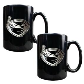 Atlanta Thrashers 2pc Black Ceramic Mug Set