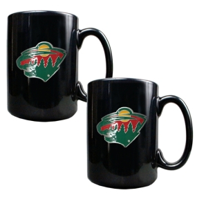 Minnesota Wild 2pc Black Ceramic Mug Set