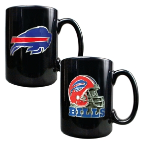 Buffalo Bills 2PC COFFEE MUG SET-HELMET/PRIMARY LOGO