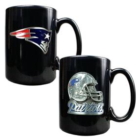 New England Patriots 2PC COFFEE MUG SET-HELMET/PRIMARY LOGO