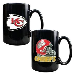 Kansas City Chiefs 2PC COFFEE MUG SET-HELMET/PRIMARY LOGO