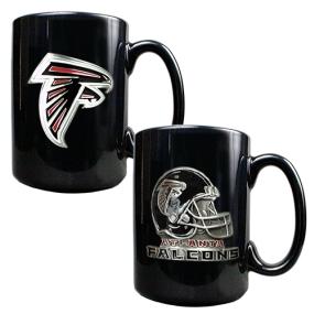 Atlanta Falcons 2PC COFFEE MUG SET-HELMET/PRIMARY LOGO