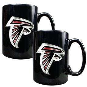 Atlanta Falcons 2pc Black Ceramic Mug Set